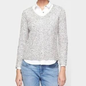 Eileen Fisher Loose Knit V-Neck Sweater